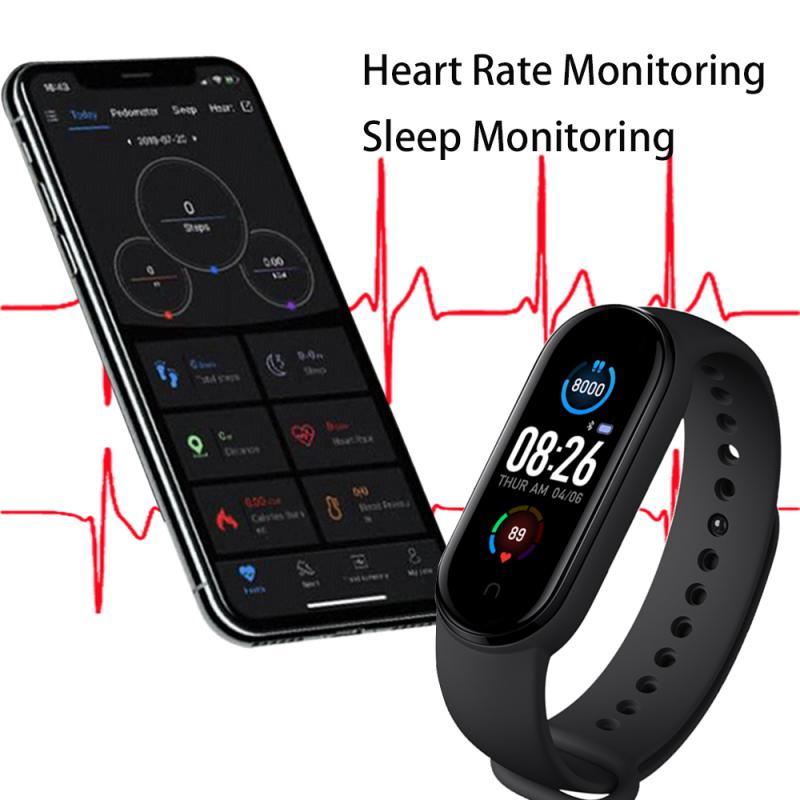 M5 Smart Watch Fitness Tracker Wristband Bluetooth 4.0 Heart Rate Detection Sport Smart Watch Health