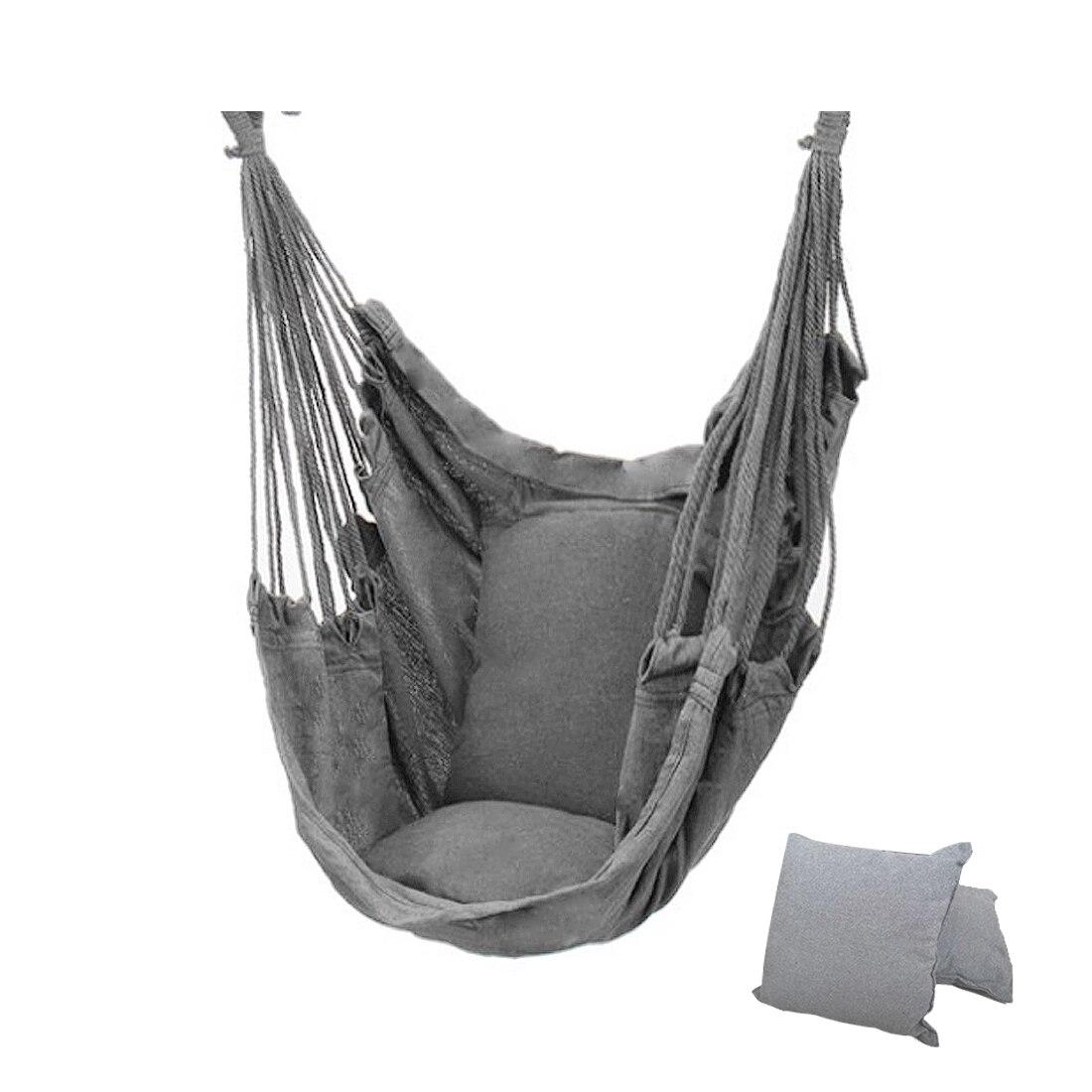 Уличный гамак-качели, утолщенное подвесное качели-стул, портативное расслабляющее холщовое качели, для путешествий, кемпинга, без подушки