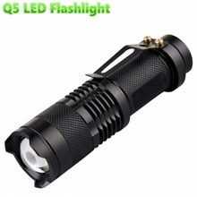 Waterproof Q5 LED Flashlight High Power 2000LM Mini Spot Lamp Portable 3 Models Zoomable Camping Equipment Torch LED mini lamp