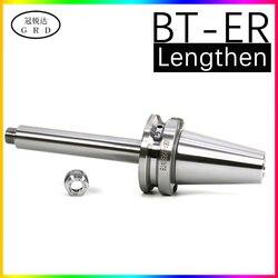 Bt30 bt40 er11 er16 er20 er32 er40 alongamento ferramenta punho 150l 200l 250l 300l suporte de ferramenta de torno cnc e er pinça chuck co-usado