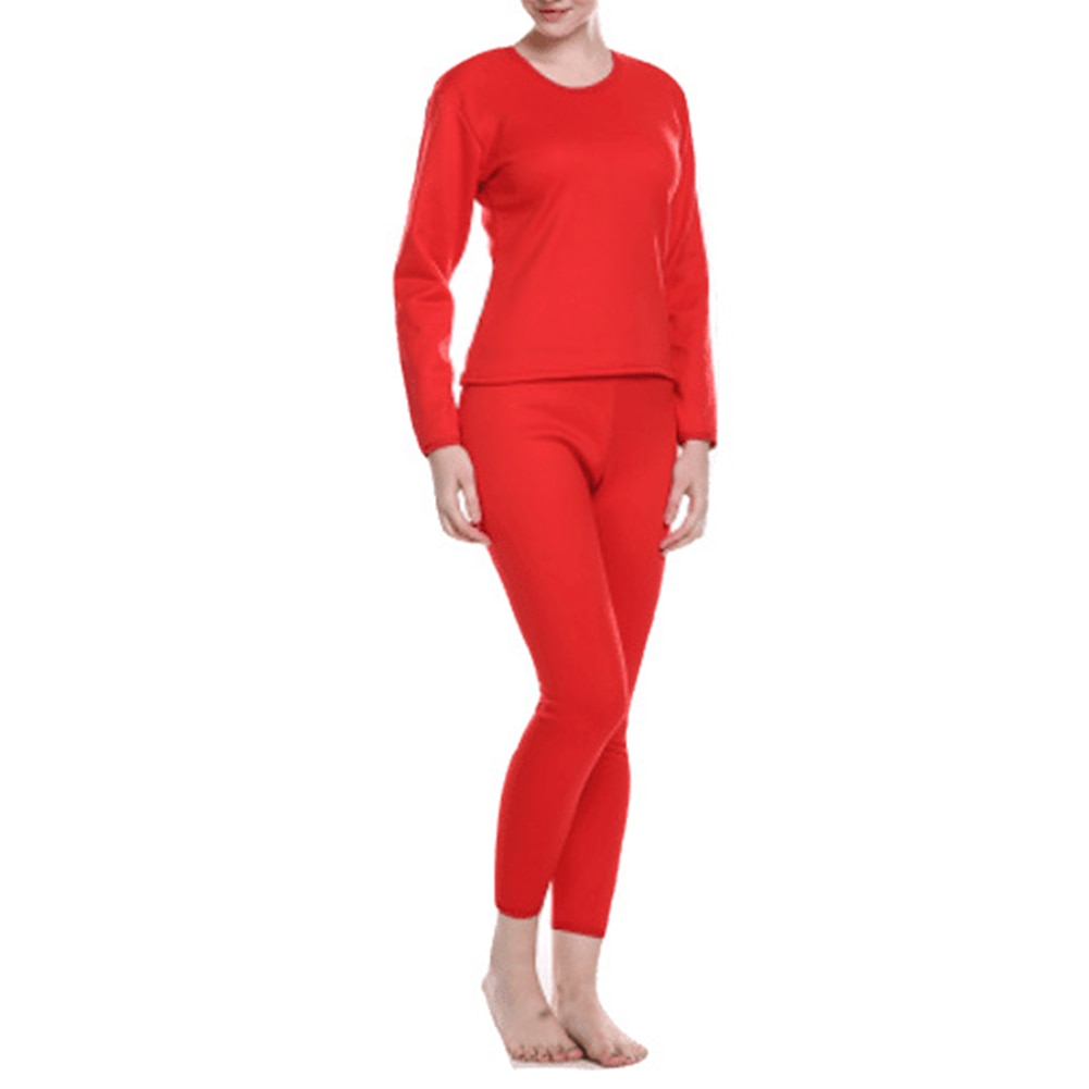 Women/Men Ultra Soft Thermals Underwear Long Johns Set with Thick Plush Lined ENDQ