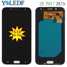 Super AMOLED J530 LCD For Samsung J5 2017 J530F Display Touch Screen Digitizer J5 Pro SM-J530F J530M J530G J530Y LCD Assembly