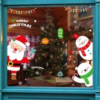 1pcs merry christmas santa claus window wall sticker christmas decoration for home christmas ornaments xmas new year