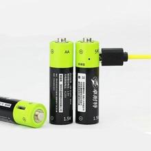 ZNTER 2 pièces/4 pièces 1.5V AA 1250mAh li-polymère batterie Rechargeable micro usb charge 1.5v batteries