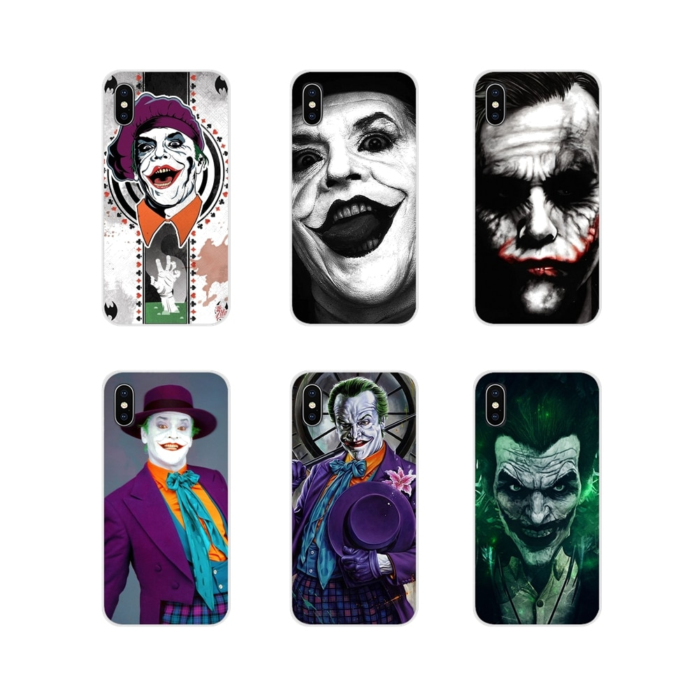 Suave transparente caso de Shell para Samsung Galaxy J1 J2 J3 J4 J5 J6 J7 J8 Plus 2018 primer 2015 de 2016 2017 Jack Nicholson joker komik