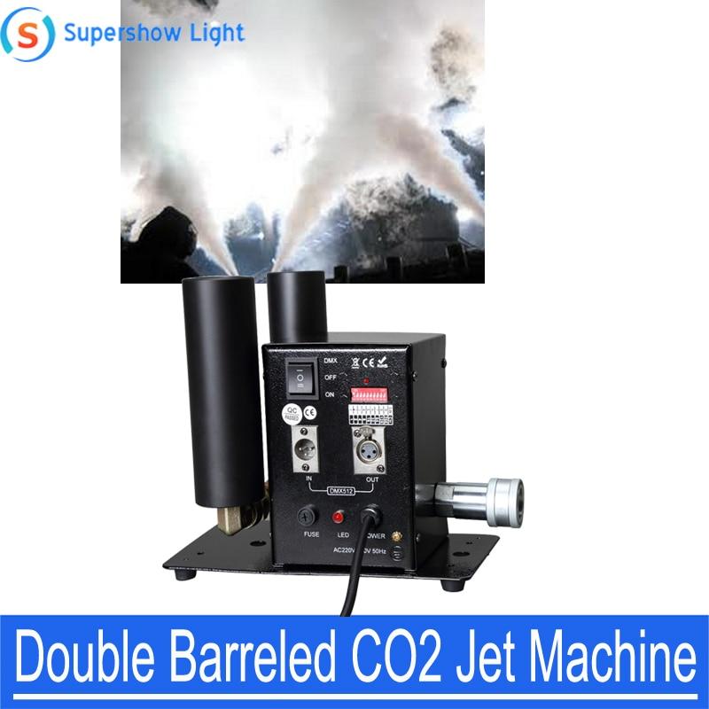 Supershow, máquina DMX de doble efecto de escenario, CO2 en barril para Bar, KTV, DJ, Láser de boda, efectos de luz Flash Par