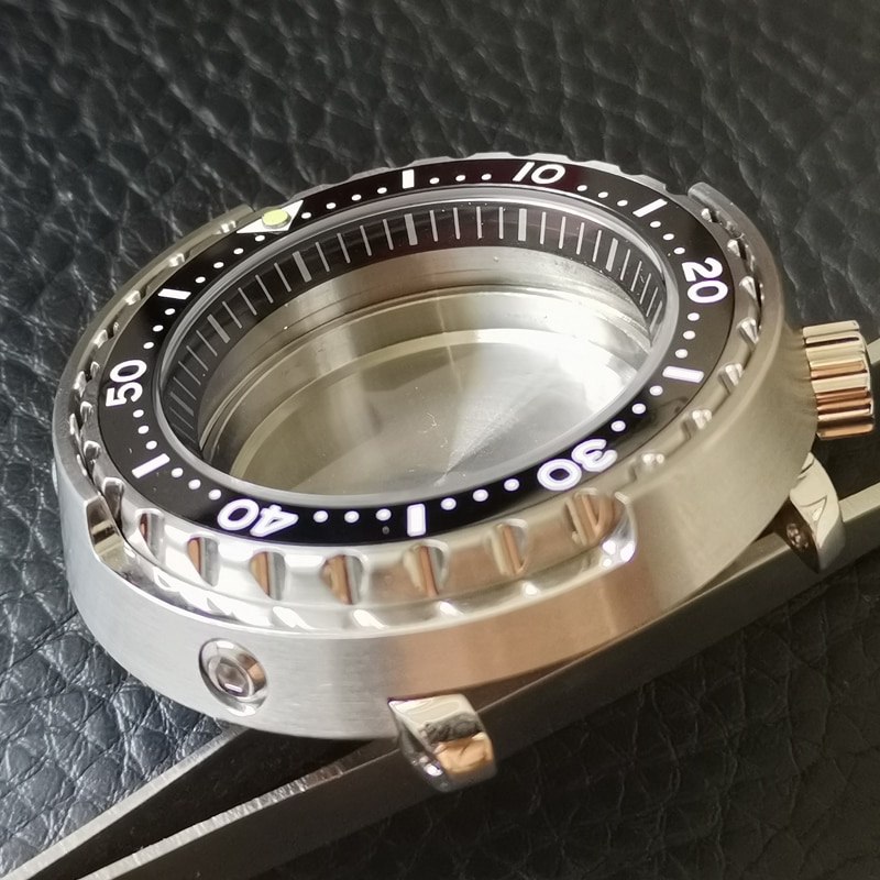 Heimdallr  47mm Stainless Steel Tuna Watch Case Sapphire Crystal 200M Water Resistance For NH35A SBBN031 SKX007 NH35 NH36 enlarge