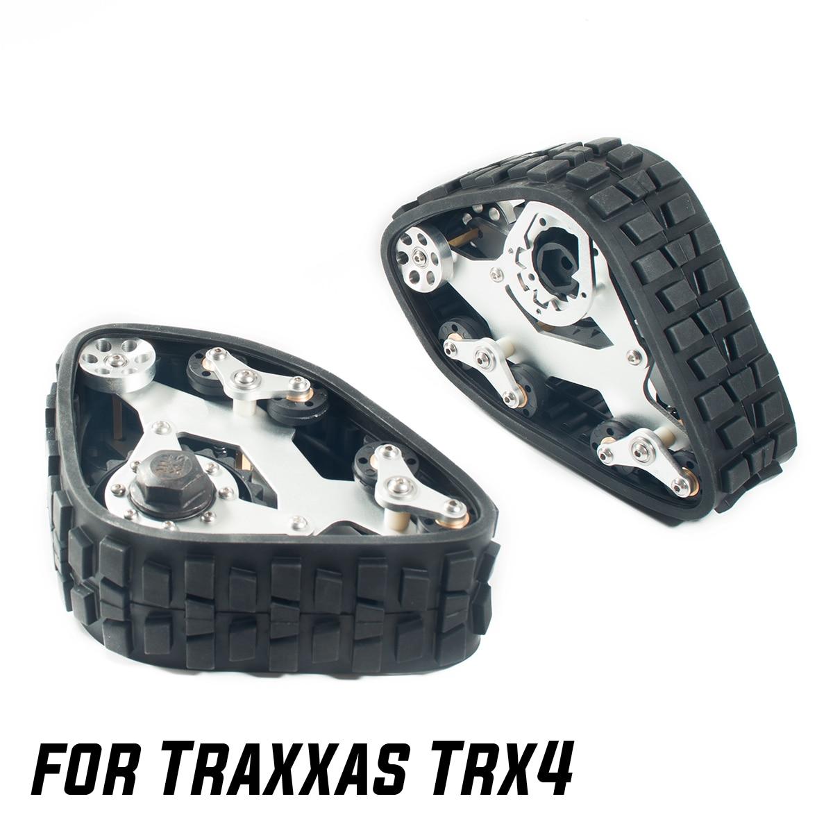 RC Aluminum All Terrain Track Muddy Road Snow Tires For 1/10 RC Crawler Car Traxxas TRX4 SCX10 D90 Defender Upgrade Parts enlarge