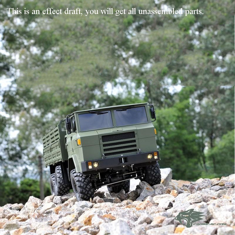 الصليب RC نموذج 1/12 XC6-F شاحنة عسكرية على الطرق الوعرة سيارة الزاحف 6*6 عدة ضوء المحرك الصوت في الهواء الطلق لعب للأولاد هدية TH10487-SMT6