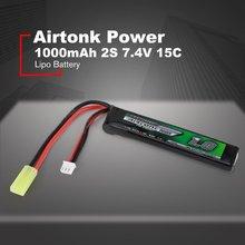 Airtonk Power 7.4 فولت 1000mAh 15C 2S/11.1 فولت 15C 3S يبو بطارية صغيرة طامية التوصيل قابلة للشحن لنموذج مسدس لعبة هدية الصبي