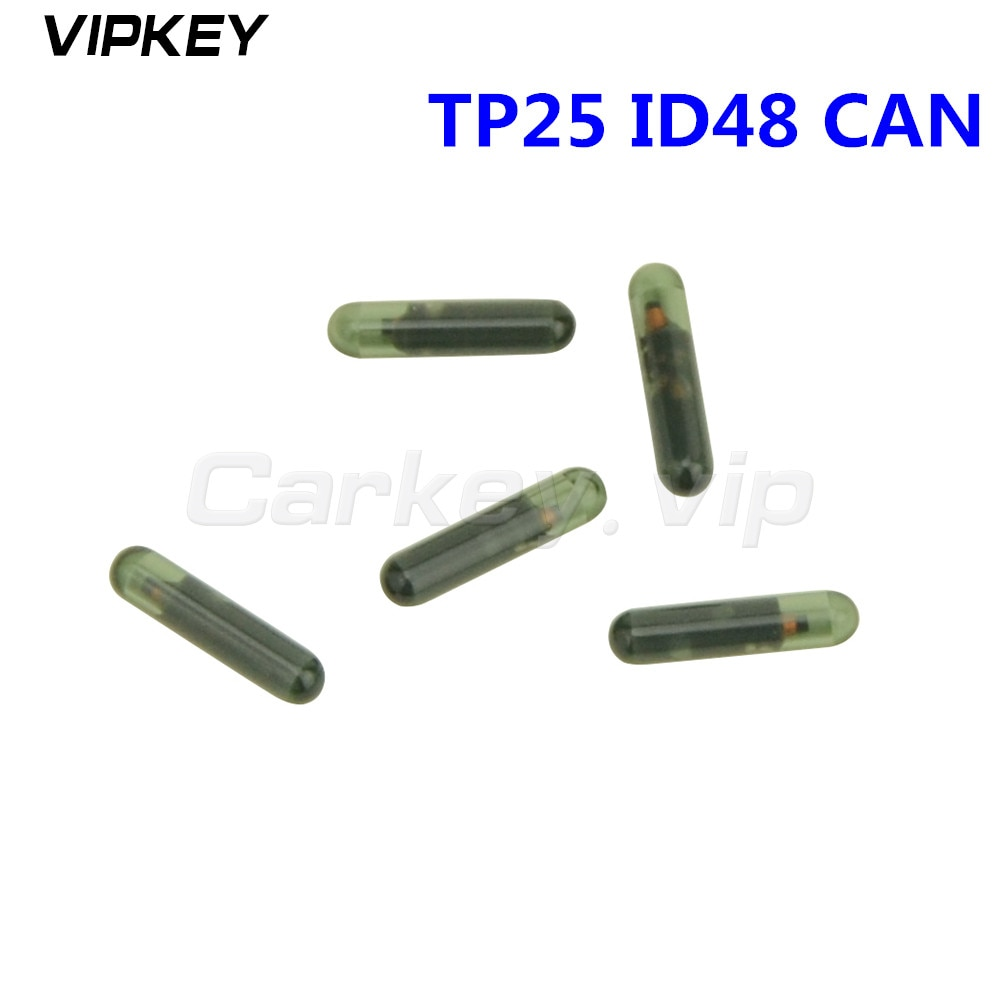 5pcs Transponder key remote car key ID48 CAN chip TP25 glass chip suitable for Audi ID 48 chip remtekey
