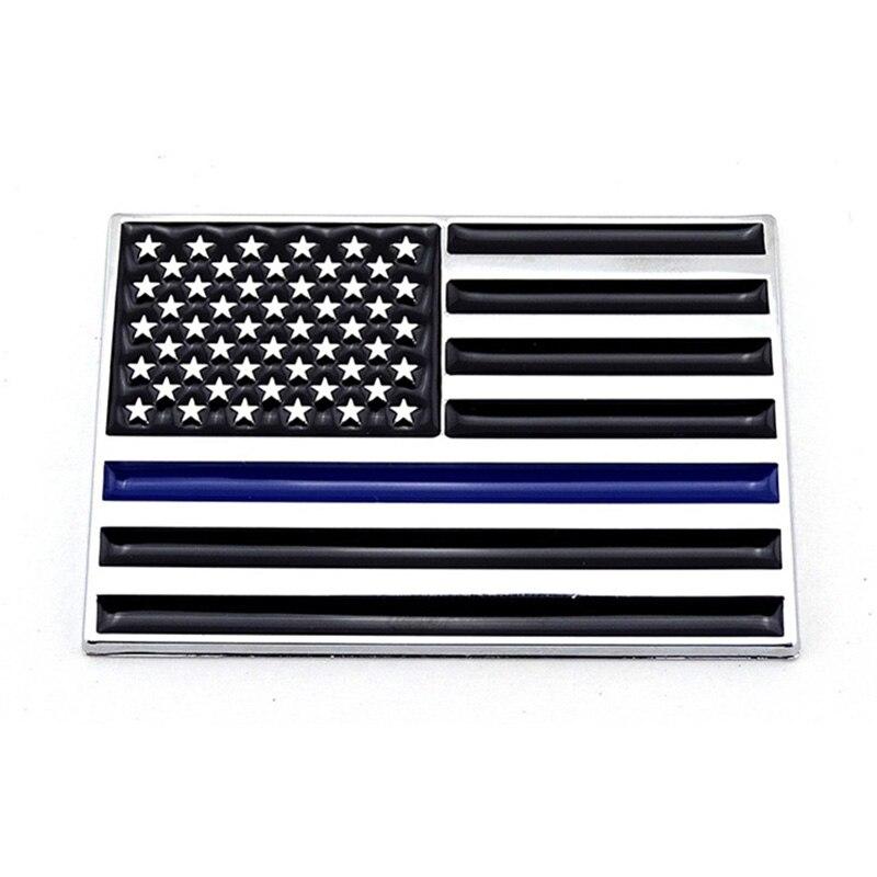 3D ligne bleue ligne rouge drapeau américain police pompiers emblème badge logo autocollant autocollant pour voiture camion auto vélo