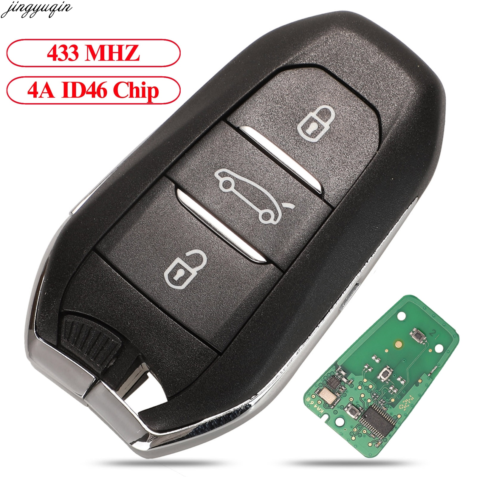 soft tpu car remote key case cover shell for peugeot 308 408 508 2008 3008 4008 5008 citroen c4 c4l c6 c3 xr picasso ds3 ds4 ds5 Jingyuqin Remote Keyless-Go Car Key 433MHz 4A ID46 PCF7945 Chip For Citroen C4 C4L DS4 DS5 Peugeot 308 408 508 5008 3B HU83/VA2