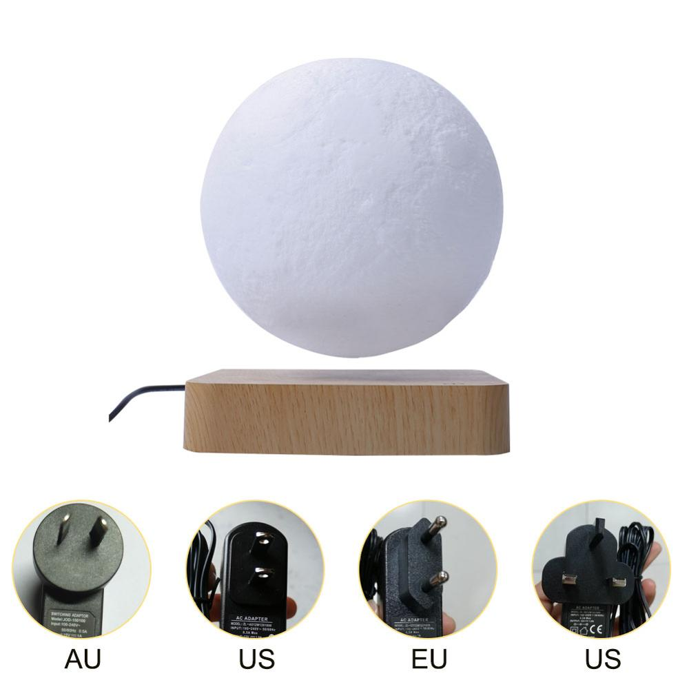 Magnetic Suspension Moon Night Light Floating and Spinning in Air Freely Unique Gifts Home Decoration Holiday Lights Moon Lamp enlarge