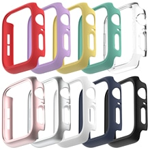 Protective Cover for Apple Watch 38mm 42mm 40mm 44mm , Hard PC Bumper Matte Case Frame Compatible for iWatch SE 6 5 4 3 2 1