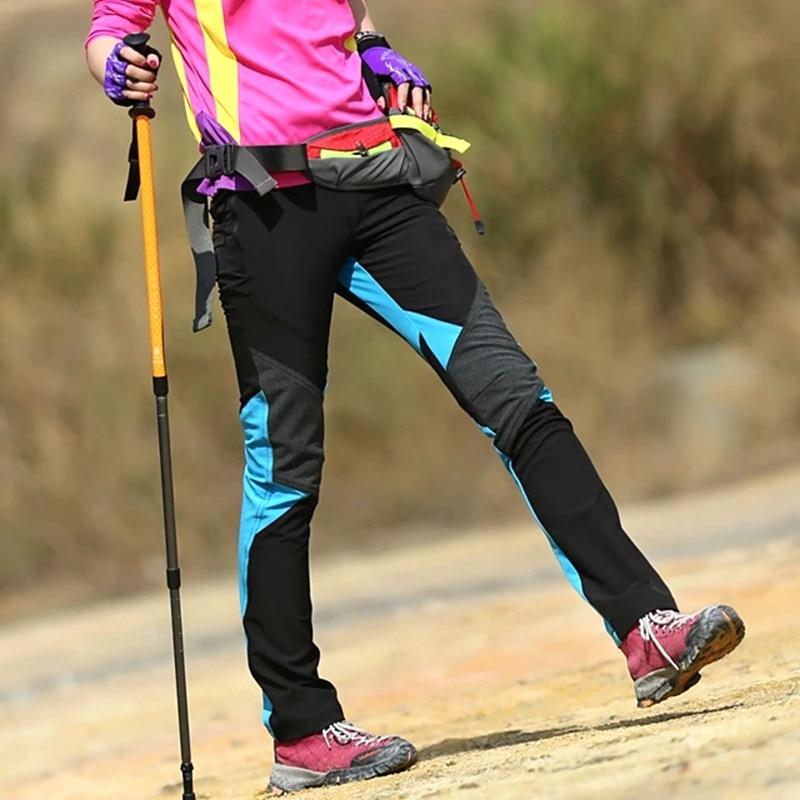 Hiking Pants Women Softshell Pants Winter Outdoor Windproof Warm Fleece Softshell Pants Camping Climbing Snow Trousers