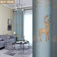 modern curtains for living dining room bedroom simple thick fabric jacquard curtain tulle finished product customization