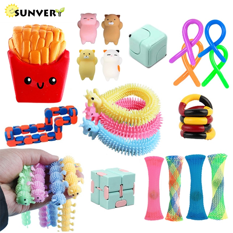 New fidget toys pack anti-stress toys package set adult figet toy mystery box toys Poppit globbles Antistress sensory hand game enlarge