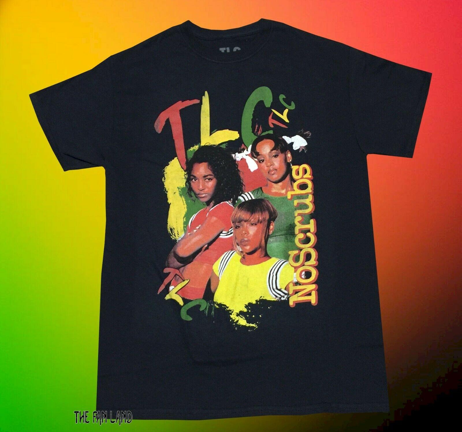 Novo tlc sem esfrega 1999 preto vintage camisa masculina t