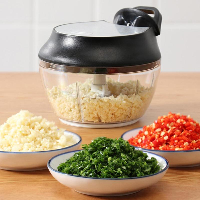 Multifuncional Manual Do Moedor de Carne Misturador Liquidificador Corte Shredders Vegetal Leve e Delicado Pique Legumes Nozes Comuns
