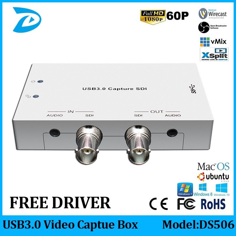 USB3.0 3G/HD/SD-SDI для USB карты видеозахвата FPGA ключ игра потоковая прямая трансляция 1080P OBS/vMix/Wirecast/Xsplit
