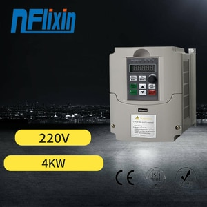4KW 220V Single Phase to 3 Phase 220V Variable Frequency Drive Motor Converter Inverter,Vector Control CNC VFD