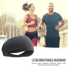Unisex Quick Drying Fitness Sports Headband Men Women Breathable Yoga Elastic Hair Sweat Band for Ou