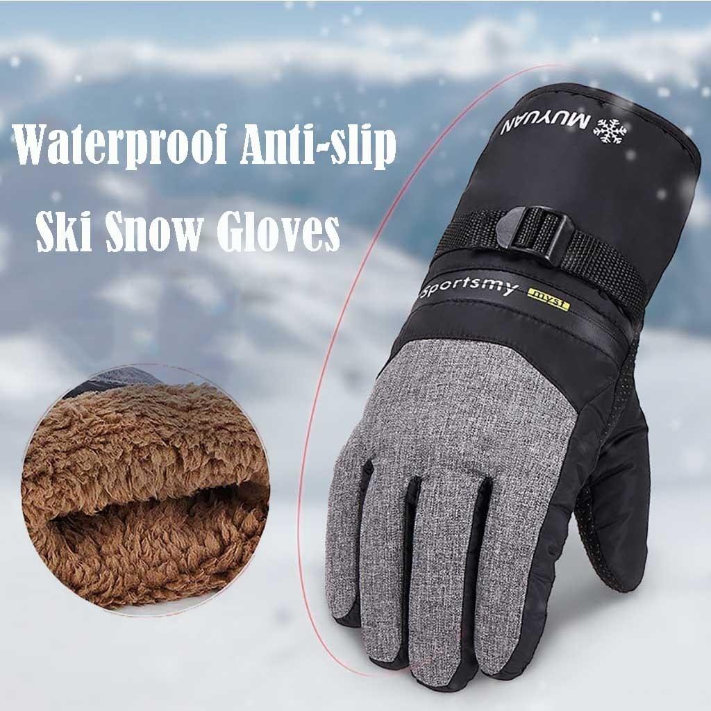 1 par de guantes de ciclismo antideslizantes de poliéster resistentes al viento de invierno para hombre, accesorios de ciclismo de alta calidad en 3 colores