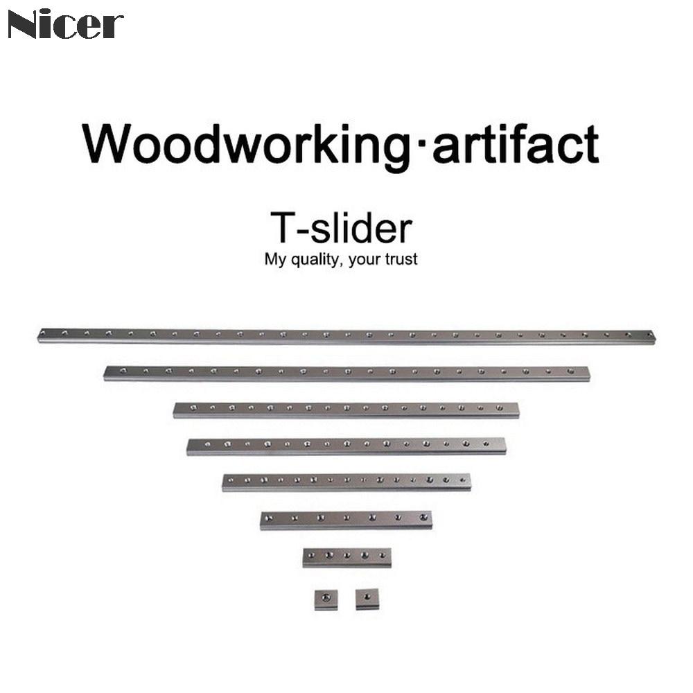 Tuerca deslizante M6/M8 t-track tuerca deslizante aleación de aluminio tuerca ranura T para 30/45 tipo T pistas Jigs tornillo ranura fijación herramientas de carpintería