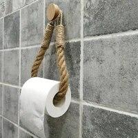 Porte-rouleau de papier toilette ou serviette en corde  vintage  accessoires de salle de bains  decoration  hotel  maison