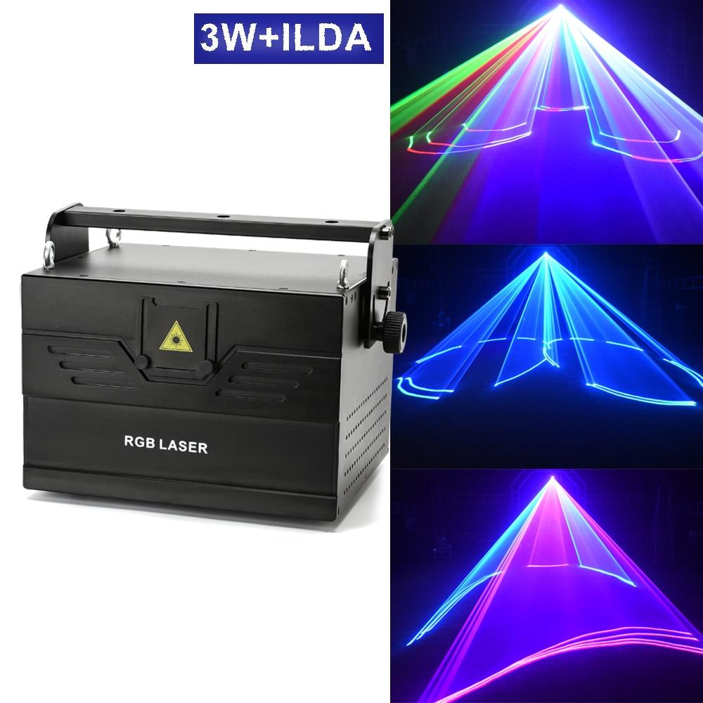3 واط ILDA ثلاثية الأبعاد مسح ليزر مسرح ضوء حفل زفاف مهنة قوية شعاع DMX الإضاءة نادي DJ ديسكو الرسوم المتحركة شعاع قوي ليزر pr