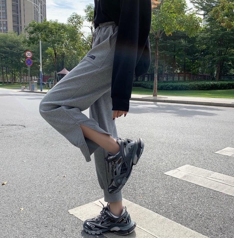Cotton Spring and Autumn Sport Pants Women's Pants Zipper Bundle