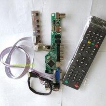 "TV56 kit for N140BGE LCD LED 14"" Panel Screen Controller driver board TV AV USB HDMIVGA remote 1366×768  40pin LVDS"