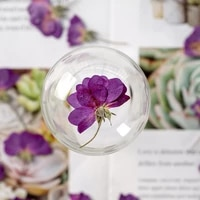 60pcs pressed dried flower purple rose herbarium for face make up nail art jewelry bookmark phone case card diy