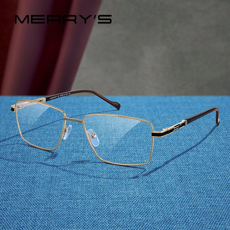 MERRYS diseño de lujo para hombre montura gafas miopía prescripción montura óptica para gafas estilo de negocios S2107
