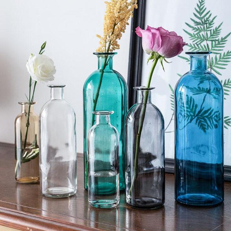 AliExpress - Glass Vase Home Decor Room Decoration Crystal Flower Pot Modern Hydroponic Plant European Fresh Style for Wedding Decoration