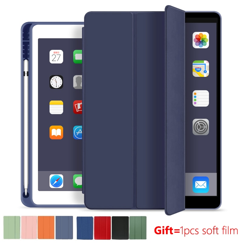 Slim Case for iPad 10.2'' Case 2020 with pen holder 8th generation TPU Soft Silicone Auto sleep/wake for A2270/A2428 /A2429 Capa