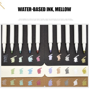 10 colors/set Paint Marker Pen Waterproof Permanent Water Oil Based Markers Color on Rocks Metal Wood Glass DIY Album TH