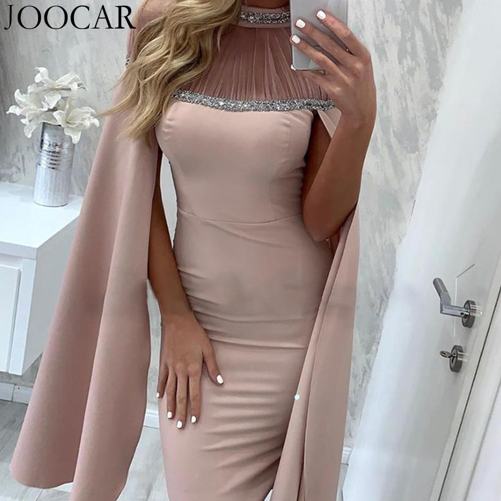 Joocar-فستان ضيق شبكي طويل الأكمام بياقة دائرية ، شحن مجاني ، مثير ، للنساء ، JC1426 ، 2020