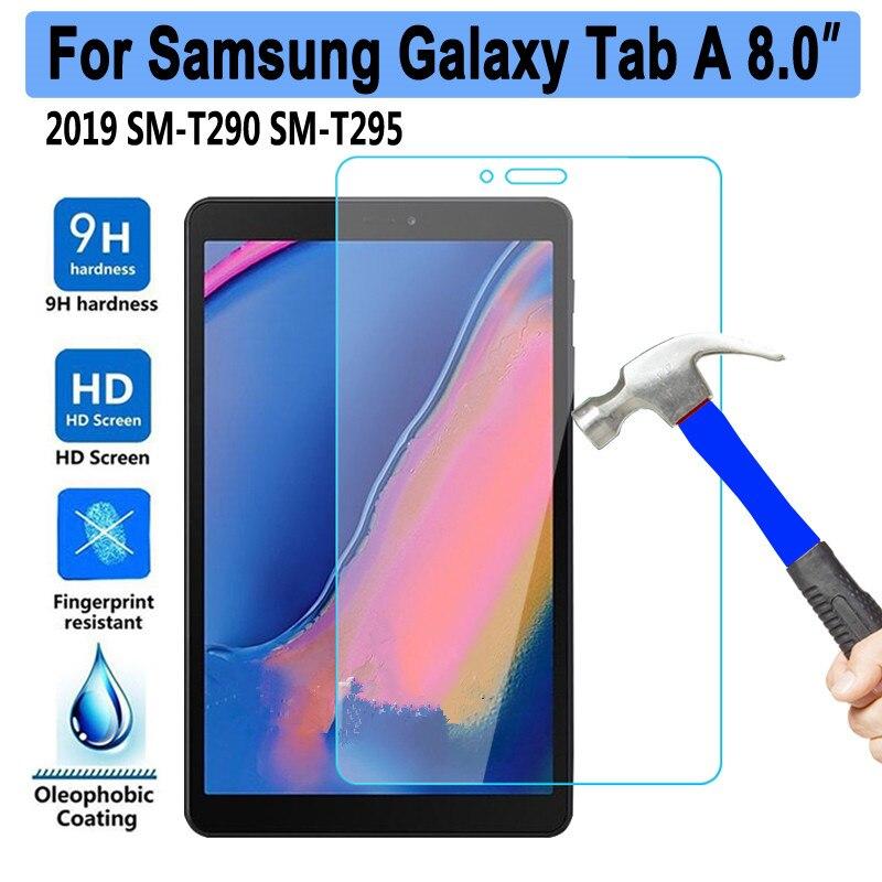 9H vidrio templado para Samsung Galaxy Tab A 8 2019 8,0 SM-T290 SM-T295 T290 T295 Protector de pantalla 0,3mm Tablet película protectora