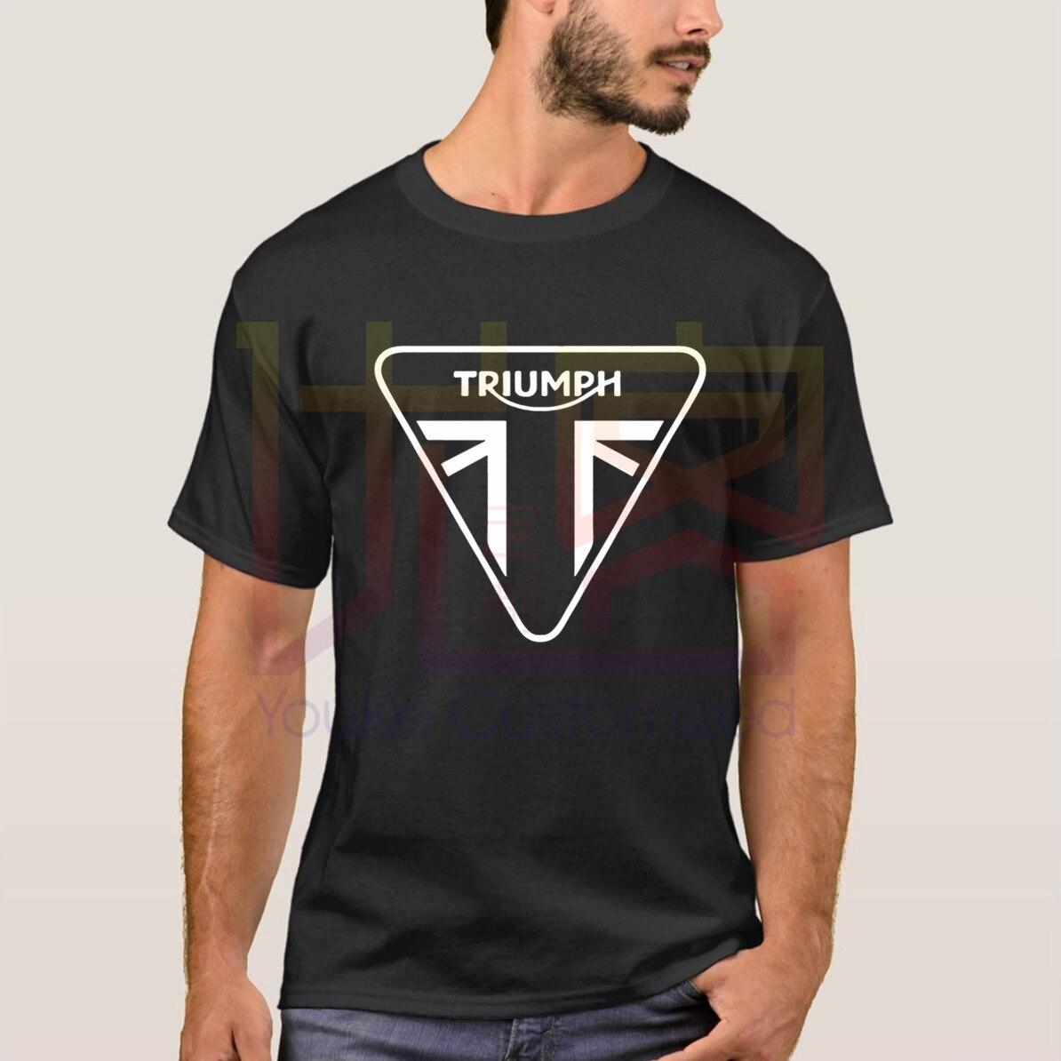 Camiseta Casual para hombre, camiseta de manga corta con logotipo de moto Triumph, camiseta Original estampada de talla grande Xxxl, camiseta para hombre