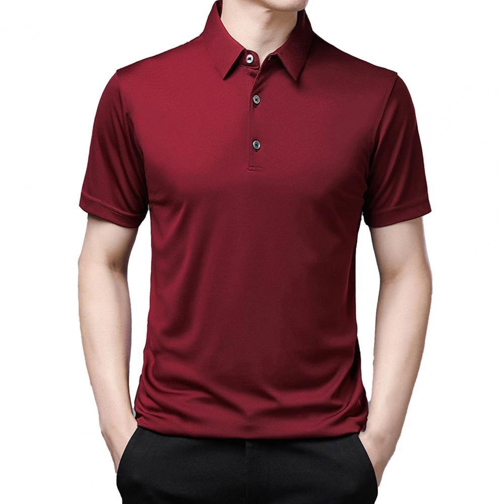 Camisa de manga corta para hombre, Top con botones de solapa, de...