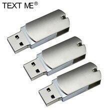USB флеш накопитель TEXT ME в металлическом корпусе, USB 2,0, 4/8/16/32/64 ГБ USB флэш-накопители      АлиЭкспресс
