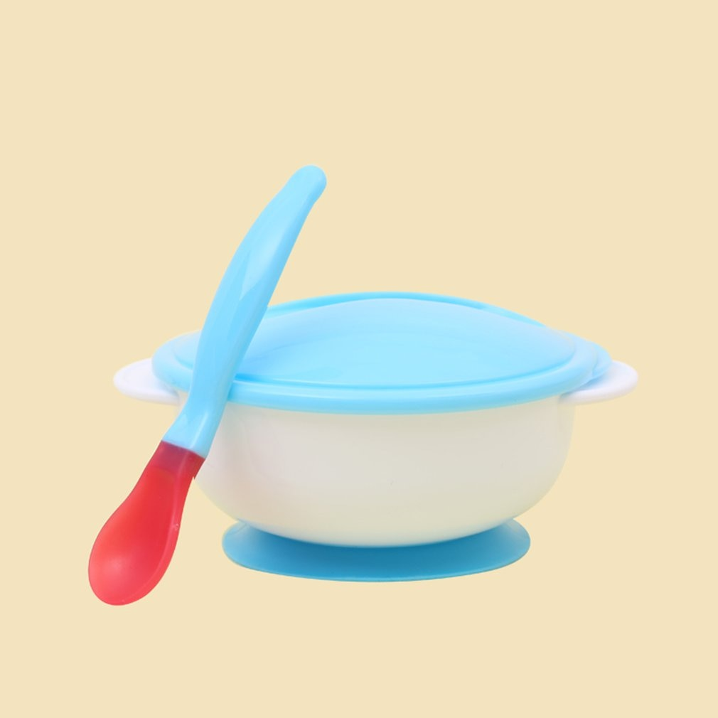 Baby Tableware Dinnerware Suction Bowl Newborn Baby Food Baby Feeding Bowls Dishes Feeding Babies Eatting Bowl With Spoon