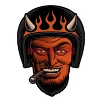 personality car sticker devil david helmet cigar motorcycle stickers decals car window body decorative stickers accessories
