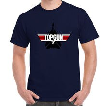 Top Gun Retro Logo Tom Cruise Val Kilmer Navy T-shirt