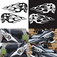car motorcycle gas fuel tank pad sticker decals motorbike devil skull logo protector fuel racing accessories universal fit