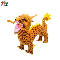 80cm reallife chinese dragon plush toy triver stuffed animals doll children kids toys lucky gift home decor crafts drop shipping