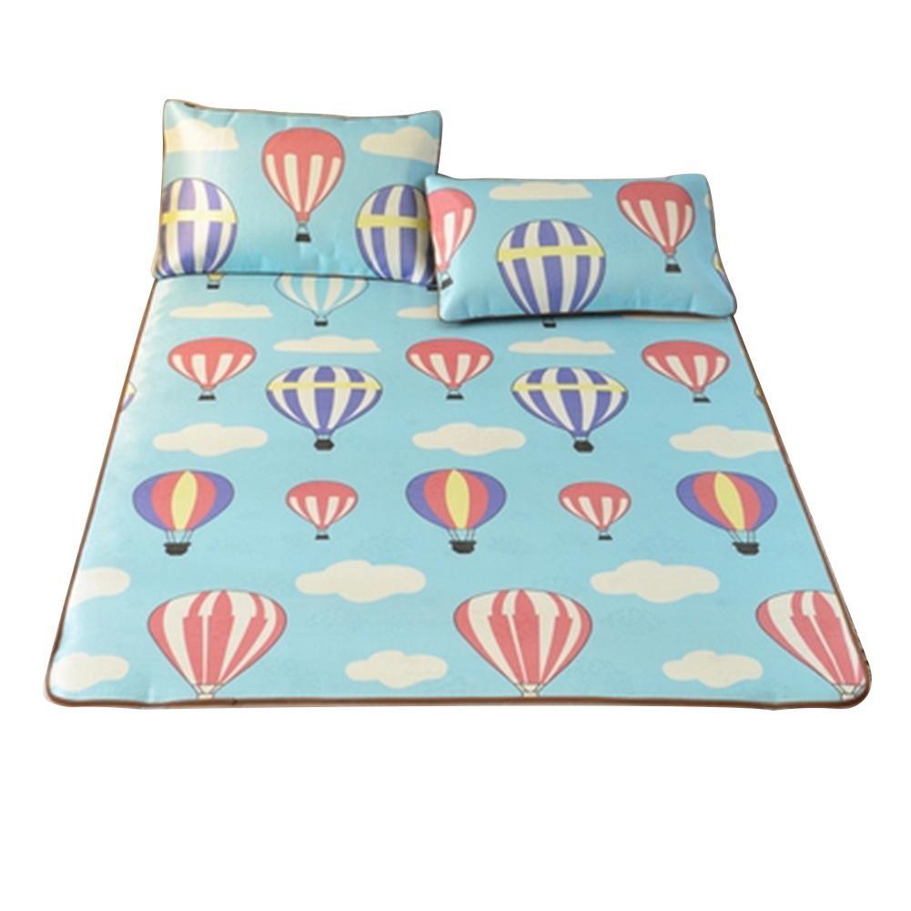 2019 New Models 3D Printing Summer Sleeping Mat Summer Foldable Bedding Mattress Cold Mat With Ice Silk Hot Balloon Bed Sheets