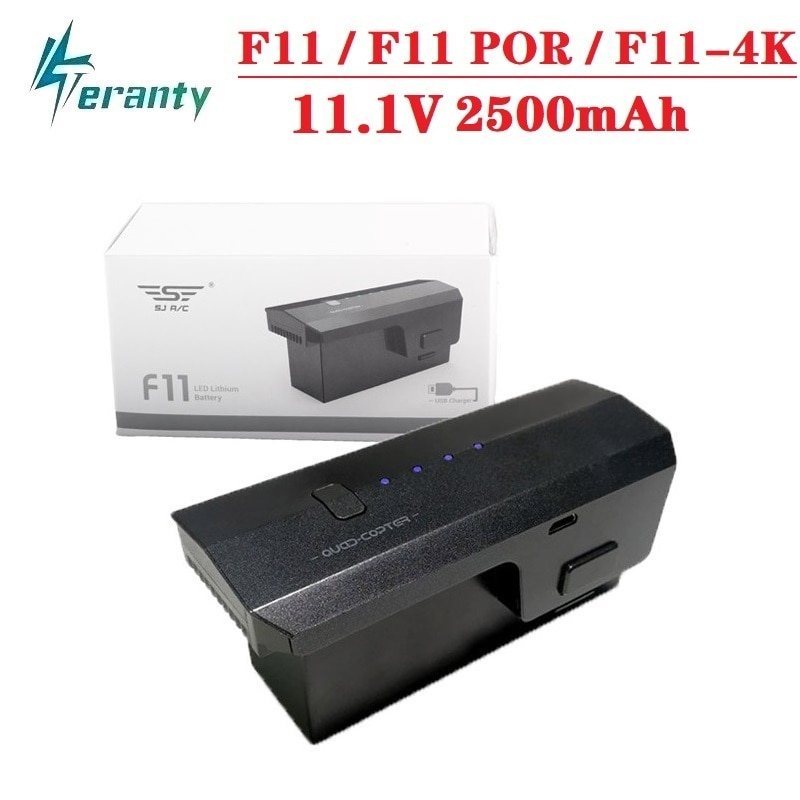 1PCS 11.1 V 2500mAh Lipo battery for SJ R/C/SJRC F11/F11 PRO/F11-4K Drone 5G Wifi GPS FPV Quadcopter